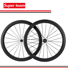 Wholesale Carbon Fiber Rear Wheel - 100% carbon fiber clincher wheelset 700C 50MM Road bicycle carbon wheels 23mm width