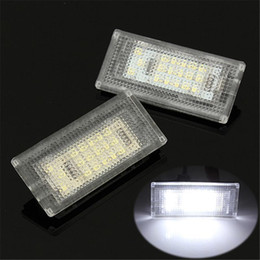 Wholesale Led Fog Lamps For Cars - 2 PCS Car LED Number License Plate Lights 6000K Plate Light Bulb For BMW MINI COOPER S R50 R53 Accessories