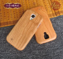 Wholesale Covers For Galaxy S4 Wood - Factory Selling Real Wood Case For Samsung Galaxy S4 Nature Wooden Bamboo Hard Cases Cover Phone Shell For Samsung S4 Back Protector