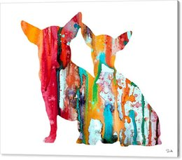 Wholesale Traditional Oil Paintings For Sale - 2016 sale youme art watercolor giclee oil painting arts and canvas wall decoration 76x102 for chihuahua 4 luke no wrap - rolled in a tube