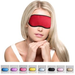 Wholesale Ear Plug Eye - 9 colors Bamboo-Carbon mulberry cotton sleep eye mask ventilation lovely women blackout goggles ear plugs to sleep newest
