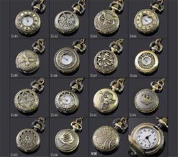antike damen beobachten anhänger Rabatt Mischungsart Antike Taschenuhr der Antike 150pcs mit Kettenhalsketten-klassischen Taschen-Uhren A052