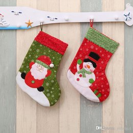 Wholesale Stocking Socks For Kids - 2017 New Year Mini Christmas Stockings Socks Santa Claus Candy Gift Bag for kids Xmas Tree Decor Festival Party Ornament Supplies