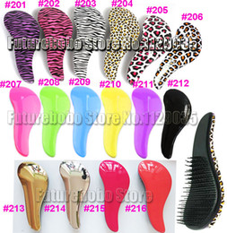 Wholesale Pink Massager - Tangle Hairbrush Professional Detangler Detangling Salon Styling tool Wig Hair Brush Personal Health Care Massager Comb TT Luxury Smooth Use