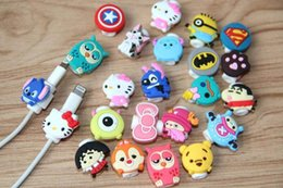 Wholesale Cartoon Iphone Wallets - USB Data Cable Protectors Cord Saver Cover Cartoon Design For iPhone Lightning iPad Cable Type C Micro USB Charging Date Cable Protective