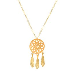 Wholesale Dreams Real - Wholesale 10Pcs lot Real Limited 2017 Vintage Stainless Steel Jewelry Pendant Pretty Dream Catcher Gold Chains Statement Necklace for Women