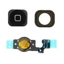 Wholesale Keys Caps Rubber - Joemel for iphone 5C USB Charging Port Front Back Camera Flex Cable Home Button Replacement Key Cap Assemble Rubber Gasket(black)
