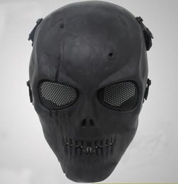 Wholesale Halloween Airsoft Mask - New Airsoft Mask Skull Full Protective Mask Military Festive Party Supplies Party Masks