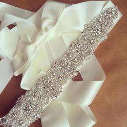 Wholesale Elastic Rhinestone Belt - Handmade Rhinestone Wedding Sashes Belt Bridal Beaded Wedding Belt Sash Rhinestone Beaded bridal belts