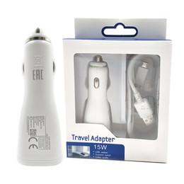 Wholesale Au Micro Charger - High Quality Auto Universal Single Micro USB Car Charger For Samsung Galaxy Note4 Note5 S6 Edge Adaptive Fast Charging Adapter 5V 2A