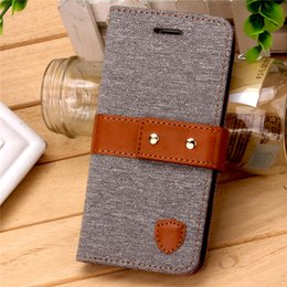 Wholesale Wholesale Leather Jeans - Wallet Case for iPhone 7 7 Plus Luxury Leather Wallet Magnetic Flip Jeans Pattern Cases Protective Phone Case