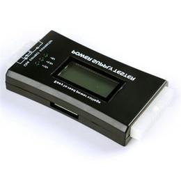 Atx 24 pinos de potência on-line-Computador PC de Alimentação Tester Verificador 20/24 pin SATA HDD ATX BTX Medidor LCDStore Atacado