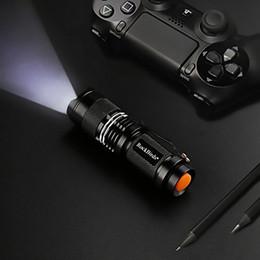 Caça mini lanterna led on-line-Lanterna LED Rockbirds, A100 Mini Super Brilhante 3 Modo Tactical Lanterna, Melhores Ferramentas para Caminhadas, Caça, Pesca e Camping