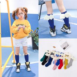 Wholesale Korean High Knee Socks - Kids Socks Angel Wing Baby Korean Cartoon Cotton Knee High Socks Long Loose Socks Leg Warmers