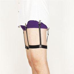 Wholesale Mens Shirt Garters - Wholesale-Punk Mens Shirt Stays Garters Suspender Braces For Shirts Gentleman Leg Elastic Men Shirt Garter Holder Business Suspenders