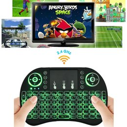 Wholesale Laptops For Wholesale - Rii I8 Fly Air Mouse Mini Wireless Handheld Keyboard Backlight 2.4GHz Touchpad Remote Control For X96 S905X S912 TV BOX Mini PC