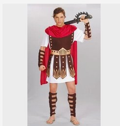 Wholesale Cotton Events - Wholesale-Guard Hercules Roman Gladiator Clothing Set Roman Warrior Costume Halloween Constumes Party Cosplay Men Events Props E47