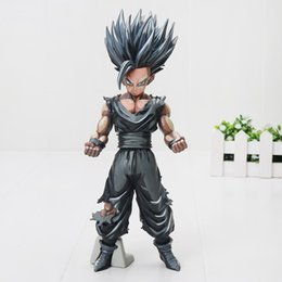 Wholesale Japan Gift Toy - 23cm Japan Anime Dragon Ball Z Toy Son gohan Chocolate color Version MSP PVC Action Figure model Toys Doll collection gifts