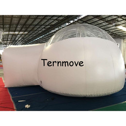 tienda de campaña para acampar al aire libre Rebajas Tienda inflable del patio trasero, tienda inflable gigante al aire libre gigante de la tienda de la burbuja del túnel que acampa, tiendas herméticas inflables que caminan