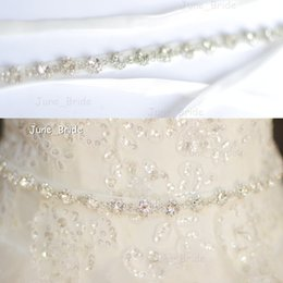 Argentina Cinturón nupcial de cristal de alta calidad Cristal de diamantes de imitación Cinturón nupcial Accesorio nupcial Ocasión especial Vestido de fajín Cinturón informal con lazos de lazo de cinta Suministro