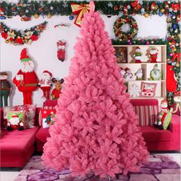 Rosa decorado arbol de navidad online-Árbol de navidad 3.0 m / 300 cm gran árbol de Navidad de color rosa regalos de Navidad hoteles de lujo centros comerciales decorados sala de estar