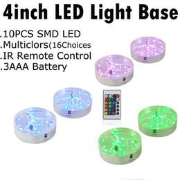 spotlichtbasis Rabatt Multi-Color-Spot-LED-Basislicht unter Vase Dekoration Licht 4-Zoll-Centerpiece Light für Hochzeit
