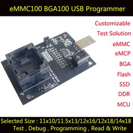 Wholesale Electrical Programmer - eMMC100 socket with USB Interface,for BGA100 testing, Nand flash programmer socket, size 11.5X13 12X16 12x18 14X18 1.0mm Adapter