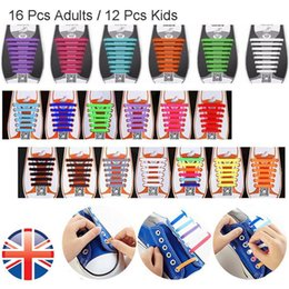 Wholesale Silicone Shoelaces - wholesale  No Tie Elastic Athletic Silicone Trainers Shoes Adult Kids Shoelaces Outdoor Sports Shoe Laces for Running Shoes, 8 Pairs lot