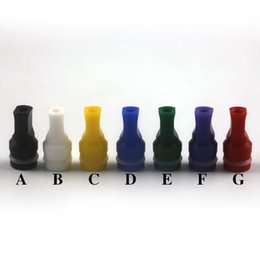 Wholesale Drip Tip Flat Head - Hot Selling Drip Tips Colorful Flat Resin Drip Tip Head Mouthpiece For EGO Atomizer E Cigarette 510 Series Tank