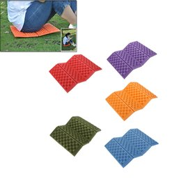 Wholesale Foam Chair Pads - Foldable Folding Outdoor Camping Mat Seat Foam XPE Cushion Portable Waterproof Chair Picnic Mat Pad 5 Colors H210650