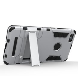 Wholesale Cheap White Cell Phone Cases - Cheap OEM cell phone case for Xiaomi 4 4c Iron Man armor case with stand mobile phone cover case