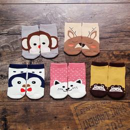 Wholesale Under Socks - Baby Under Age 4 Cartoon Socks Winter Thicken Baby Socks Keep Foot Warm Cover For Kids 5 Styles Animals