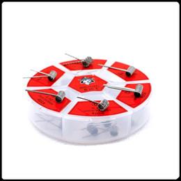 Проволочные катушки онлайн-Демон убийца 6 в 1 N80 пламени катушки комплект предварительно построить нагревательные провода 6 типов предварительно встроенный нагревательный провод для Vape