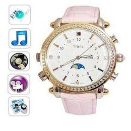Wholesale Thinnest Spy Camera Watch - 8GB MP3 640*480 Ultra-thin Woman Spy USB Watch Waterproof Hidden Camera DVR