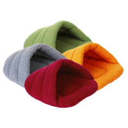 Wholesale Pet Cave - Small Pet Dog Cat Bed Sleeping Bag Lovely Warm Winter Fleece Cat Cave Dog House Soft Pet Cusion Keep Warm Bed Mat