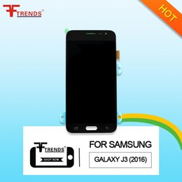 Wholesale Brightness Adjustment - HOT!100% Warranty Replacment mobile phone lcds for samsung galaxy lcds screen j3 j5 j7 TFT with frame brightness adjustment free shipping