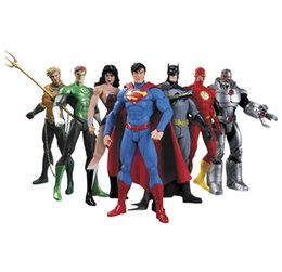Wholesale Justice League Wholesale - DC Superman Bat Collectibles Justice League 7-Pack Action Figure Superman Model Collection Toy Gift OTH719