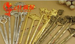 Wholesale Hair Manufacturers Yiwu - Chinese hairpins wind retro zinc alloy double Bob bookmarks for manual metal hair jewelry accessories wholesale manufacturers in Yiwu DIY