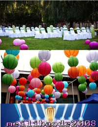 "Wholesale Lit Paper Lanterns - New Hot Selling 6"" 8"" 10"" 12"" 14 16"" 18"" Wedding Party Paper Lanterns Light Decoration Holiday Decors Multi-color LLFA"