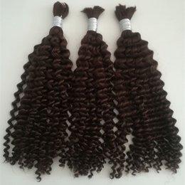Wholesale Human Hair For Braids - Grade 5a virgin brazilian deep wave hair 100g set 3pcs lot no weft human hair bulk for braiding unprocessed hair products dhl free