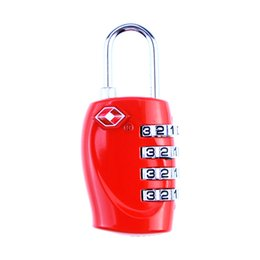 Wholesale Luggage Locks - Hot TSA 3 Digit Resettable Combination Red Color Suitcase Customs Code Safe Travel Luggage Lock