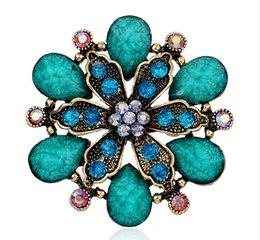 gemas de casamento roxas Desconto Moda jóias Retro Gem Broche de Safira Rubi Broches Roxo Gem Pins Liga de Casamento Sparkly Acessórios Pinos 3 Cores
