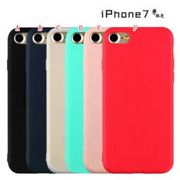 Wholesale Rubber Silicone Cell Phone - Colorful Matte Soft TPU Case For Iphone 7 I7 Iphone7 7TH Plus 6 6S SE 5 5S Ultrathin Silicone Rubber Cell Phone Cases Back Skin Cover 100pcs