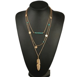 горячие продажи женщин ожерелье перо заявление ожерелья подвески старинные ювелирные изделия Multi слои длинное ожерелье женщины NL579 от