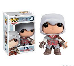 Wholesale Ezio Figure - Assassin's Creed Ezio Classic Decoration Toys Gift Animiation Dolls Toys Action & Toy PVC Action Figure Model Doll Gift Christmas Brithdays