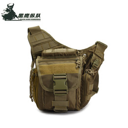 Wholesale Durable Messenger Bag - Tactical Messenger Bag Military Molle Camera Bag Outdoor Casual Waist Pack Army Fans Durable Single Shoulder Bag