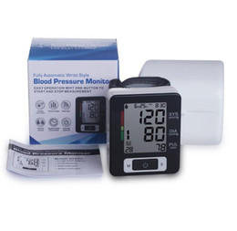 Wholesale Diagnostic Electronic - 2016 New Arm Electronic Sphygmomanometer Touch-Screen Digital blood pressure monitor portable tonometer LCD display health diagnostic-tool