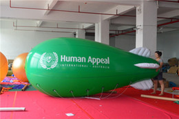Wholesale Inflatable Repair Kits - Wholesale-Crazy Price! PVC 12ft 4m Inflatable Lighted Helium Airship Blimp zeppelin with tail & Free Repair kits   Free Shipping