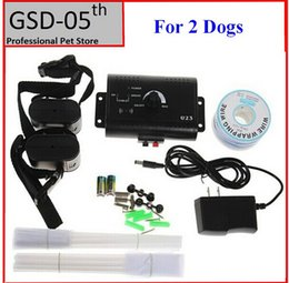 Wholesale Electric Fence Ground - Wholesale-2 Dogs Underground Electric Dog Pet Fencing System In-Ground Electric Dog Collar Dog Training Trainer Collar