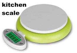 Wholesale Unit Kitchen Scale - 20pcs household 5000g 5kg 1g kitchen scale digital LCD weighing with backlight unit g  lb  oz with overload   low battery prompt function